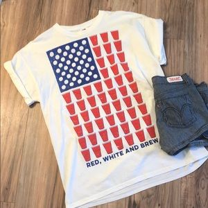 Red, white, and brew tee